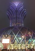 Grand Lisboa Casino In Macao At Fog Night