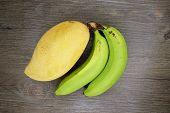 Mango Or Mangifera Indica And Banana