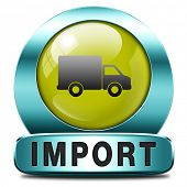 import icon international and worldwide or global trade on world economy market. importation and exportation