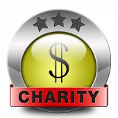charity icon fund raising raise money to help donate give a generous donation or help with the fundraise gifts