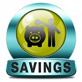saving money in piggy bank deposit account with savings plan save cash online banking