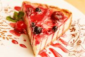 picture of cherry pie  - cheesecake with berries - JPG