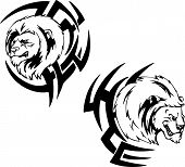 Predator Lion Head Tattoos