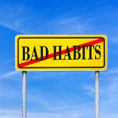 stock photo of  habits  - Bad Habits prohibited  - JPG