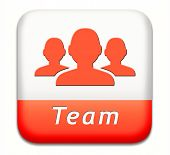 Team button or work or business our team banner about us sign or icon
