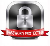 Password protected data protection by using strong safe passwords recover and change for security an
