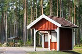 Roadside Rest Area In The Forest