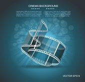 Постер, плакат: Old Cinema Banner With Stripe Roll