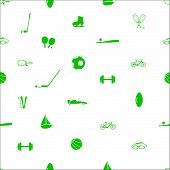 sport equipment pattern eps10