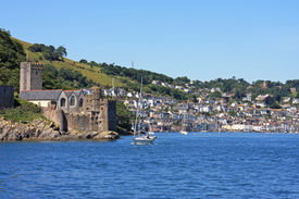 image of dartmouth  - Dartmouth castle by the River Dart - JPG