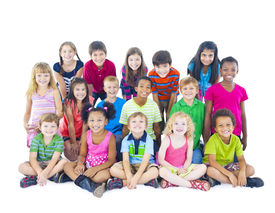 image of pre-adolescents  - Large Group of Children  - JPG