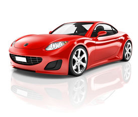 picture of status  - 3D Red Sports Car - JPG