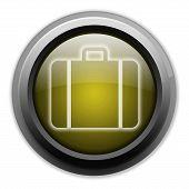 Icon, Button, Pictogram Luggage