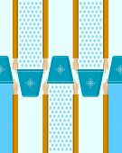 image of inverted  - Vector pattern with flat hands with blue inverted bucket on blue background - JPG