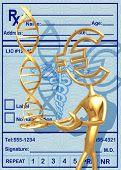 3D Medical Concept Euro Presenting DNA