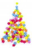 New Year's Fur-tree - Little Star Confetti On A White Background.