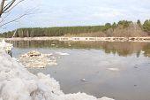 Kan River after an ice drift.