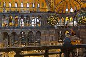 Mosaic Interior In Hagia Sophia At Istanbul Turkey