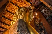 Under the head of the giant golden Buddha