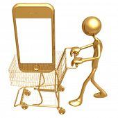 Touch Screen Cell Phone Shopping Cart