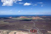 Lanzarote - Look from the Montana de la Cinta to northwest