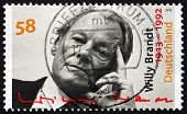Postage Stamp Germany 2013 Willy Brandt, German Politician