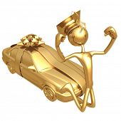 Golden Grad Sedan Graduation Gift