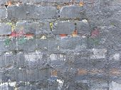 Old  Building Brick  Wall  Painted In Gray