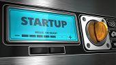 Startup on Display of Vending Machine.