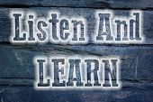 Listen And Learn Concept