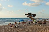 Mediterranean beach of Haifa, Israel.