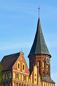 Tower Koenigsberg Cathedral. Symbol Of Kaliningrad, Russia