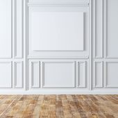 Empty Classic Room With Laminate Flooring