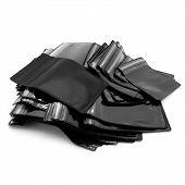 Black Zipper Packaging Bags