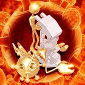 Virus Under Microscope