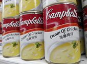 Cans of Campbell's chicken cream