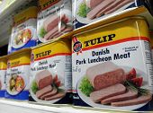 Tulip luncheon meat cans
