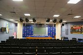 Press conference room at Billie Jean King National Tennis Center before 2014 US Open Draw Ceremony