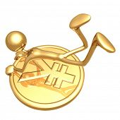 Hanging On To A Gold Yen Coin