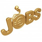 Unemployment Gold Euro Coin