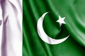 picture of pakistani flag  - Pakistan flag texture creased and crumpled up - JPG