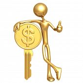 Financial Gold Coin Key