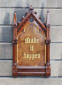 Decorative Wooden Sign - Make It Happen
