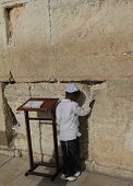 First prayer near Western/Wailing Wall