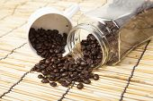 Coffee Beans In A Jar.