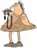 Caveman photographer