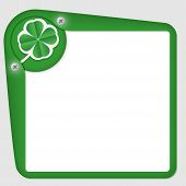 Green Frame For Text With Cloverleaf