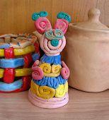Child's Ceramic Handicrafts. Mouse.
