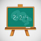 Simple vector black board with written numbers
