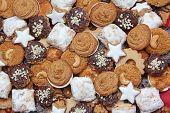 Selection Of Handmade Wholemeal Christmas Cookies